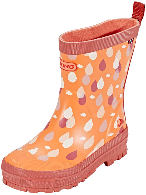 Viking Footwear Dråpe Rubber Boots Kids coral
